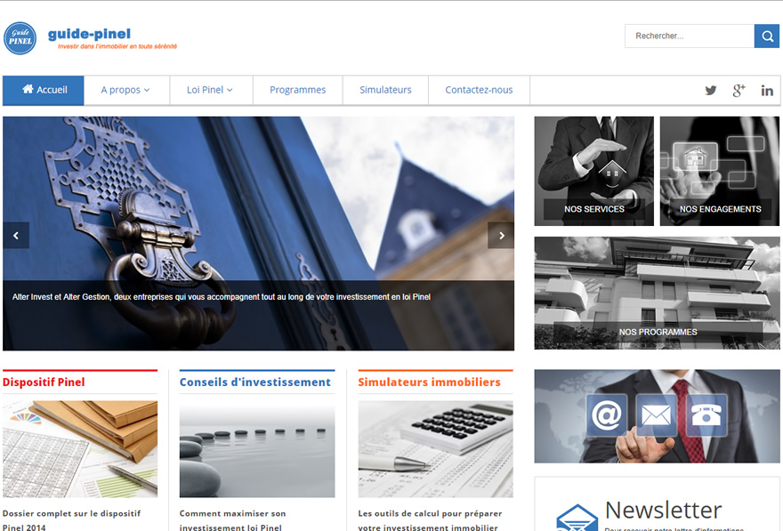 Site Web Guide Pinel