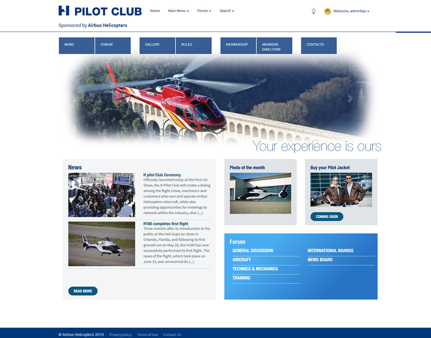 Site Web H Pilot Club